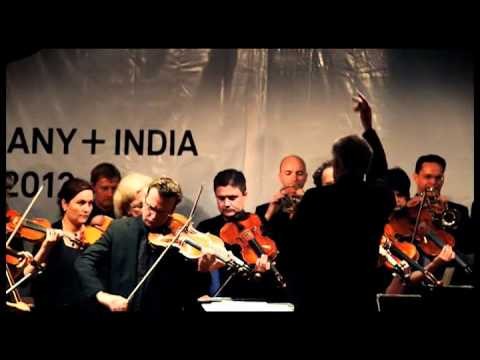 Deutsche Philharmonie Merck performs the Indian and German national Anthems
