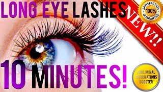 🎧 GROW LONGER EYELASHES IN 10 MINUTES! SUBLIMINAL AFFIRMATIONS BOOSTER! REAL RESULTS DAILY!