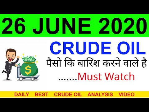 Crude oil complete analysis for 26 JUNE 2020 | crude oil strategy | intraday strategy for crude oil