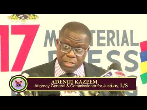 2017 MINISTERIAL BRIEFING Ministry of Justice