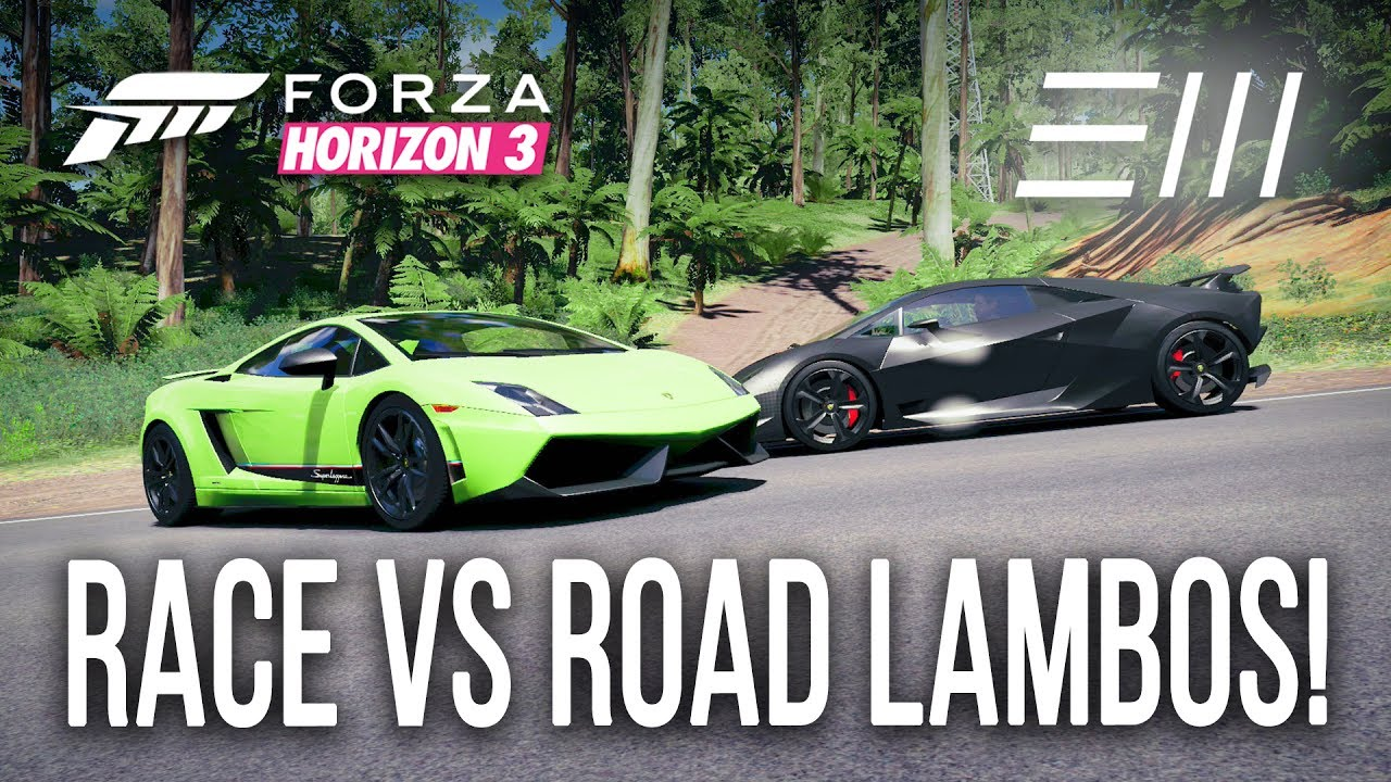 Forza Horizon 3 Race Vs Road Lamborghini Sesto Elemento Vs