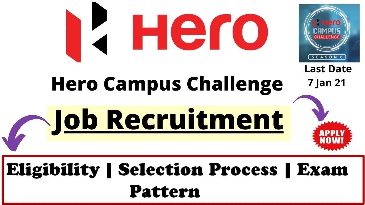 HERO MOTOCORP Recruitment 2021 | 2022 - Hero Campus Challenge 2020