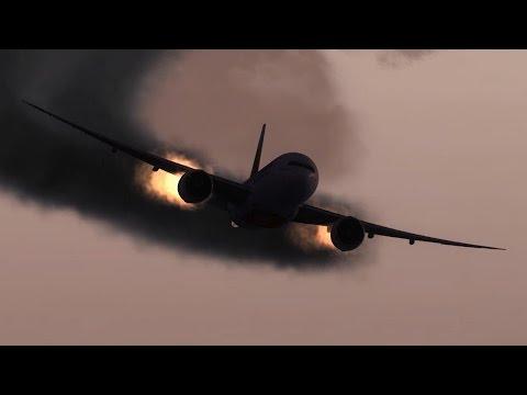777-200LR Crash Landing Tokyo Haneda Airport ✈✈✈✈✈