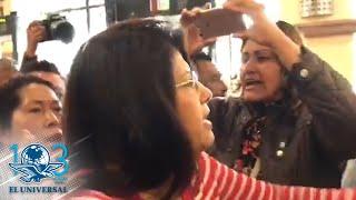 Protestan empleados del ayuntamiento de Tecámac tras ser despedidos
