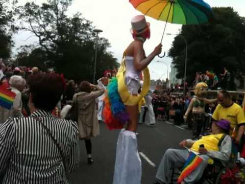 Brighton Gay Pride Parade 2012 Part 6 - Royal Pavilion