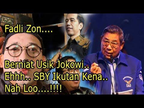 Baru..  Fadli Zon Ny1ny1r ke Jokowi atau SBY? Nah Loo...!!!! Akhirnya..