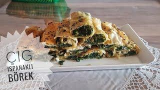Çiğ Ispanaklı Börek Tarifi l Yemek Tarifleri