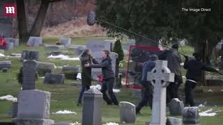 Julia Roberts  Ben is Back in NY cemetery