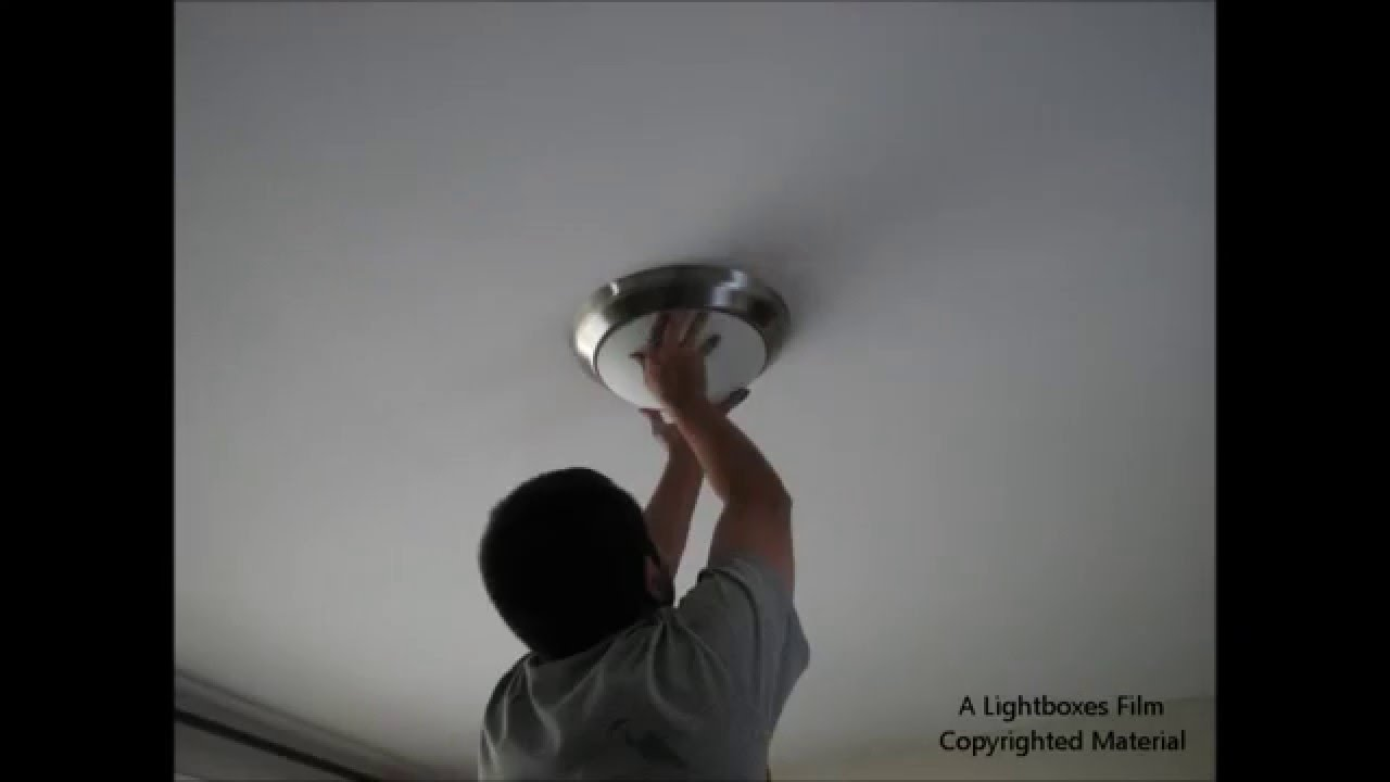Time Lapse) How to Install a New Ceiling Light Fixture - YouTube