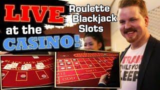Roulette, Blackjack and Slots - LIVE LAND BASED CASINO | Vlog 32