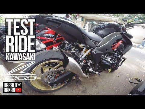 Testride Kawasaki Z1000 2012! #motovlog Indonesia