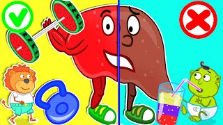 Lion Family ⛑️ Rescues Talking Broken Liver by Healthy Habits for Kids / Cartoon for Kids