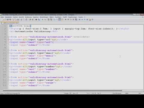 HTML5-Formularvalidierung - HTML5 Und CSS3