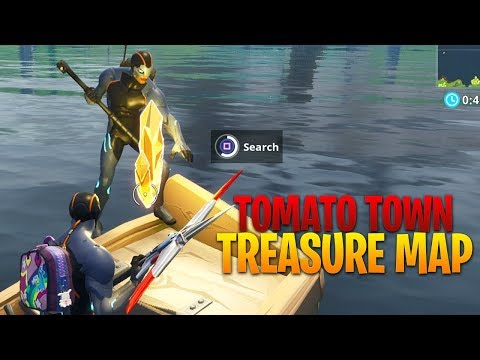 Follow The Treasure Map In Tomato Town  (Fortnite Season 4 Week 1 Challenges)