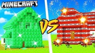 DOM Z EMERALDÓW VS DOM Z TNT - MINECRAFT | VITO vs GPLAY