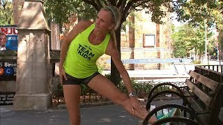 Olympian Shalane Flanagan before running the TCS NYC Marathon