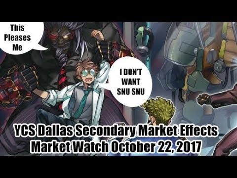 YCS Dallas Secondary Market Effects - Yugioh Market Watch October 22, 2017