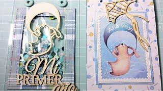"""Tutorial mini álbum """"Bebé,  primer año"""". Fácil y rápido, para principiantes. Kora projects."""