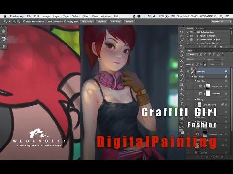 Graffiti Girl [Digital Painting]