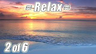 Virtual Beach BAHAMAS BEACHES #2 Relaxing Ocean Waves Sounds Tropical Relaxation HD for Studying