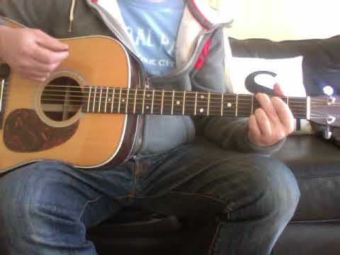 how to play lucky man on acoustic guitar