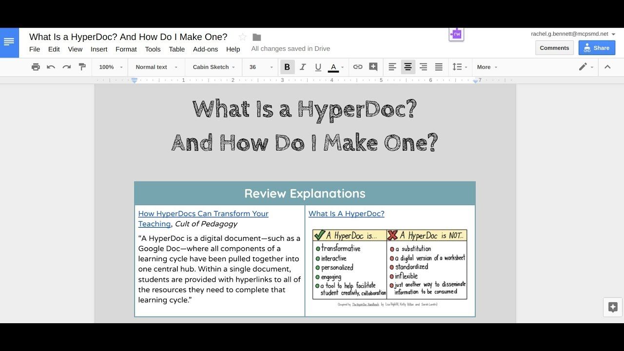 Download What is a HyperDoc? And How Do I Make One?