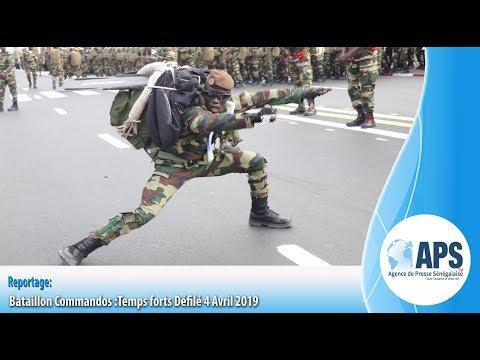 Bataillon Commandos :Temps forts Défilé 4 Avril 2019