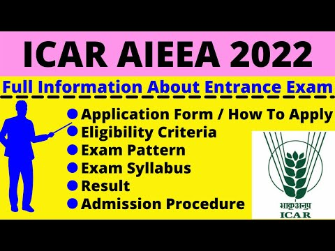 All About ICAR AIEEA 2022: Notification, Dates, Application, Eligibility, Pattern, Syllabus