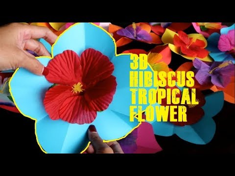 How to Make  Hibiscus Flower - Tropical Hawaiin Flower