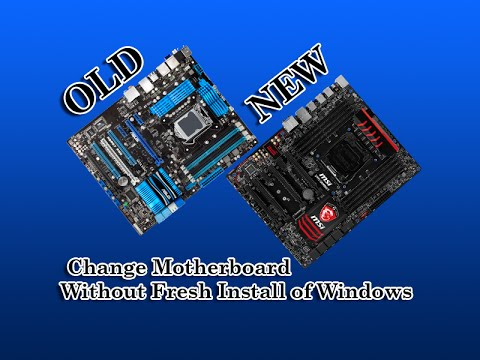 Changing motherboard cpu without reinstalling windows windows update and vista