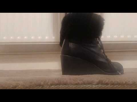ASMR|  fully wedged boots on different flooring