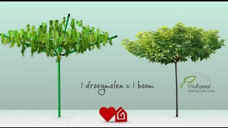 Brabantia Love Nature Droogmolen campagne met WeForest