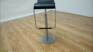 Wholesale Interior Black Adjustable Bar Stool
