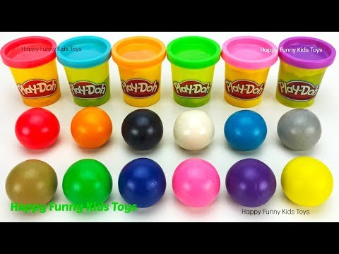 Learn Colors with Play Doh Balls and Cookie Molds Surprise Toys
