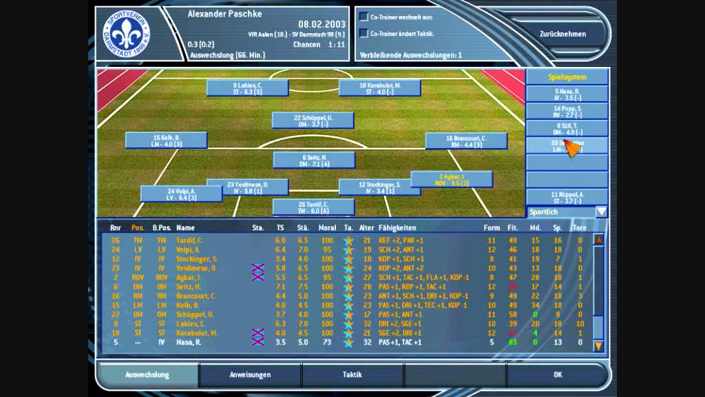 Let S Pay Fussball Manager 2003 13
