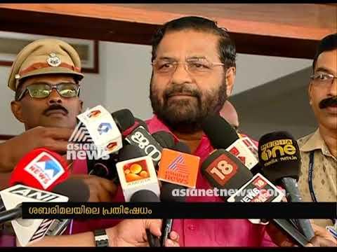 Kadakampally Surendran against BJP on protests in Sabarimala