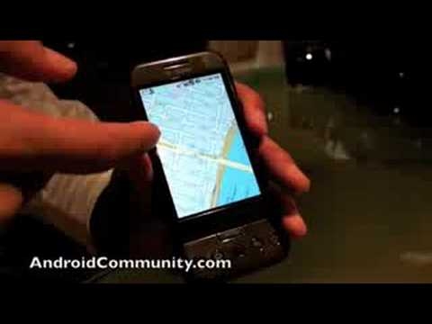 T-Mobile G1 Android phone Hands-on Video 3