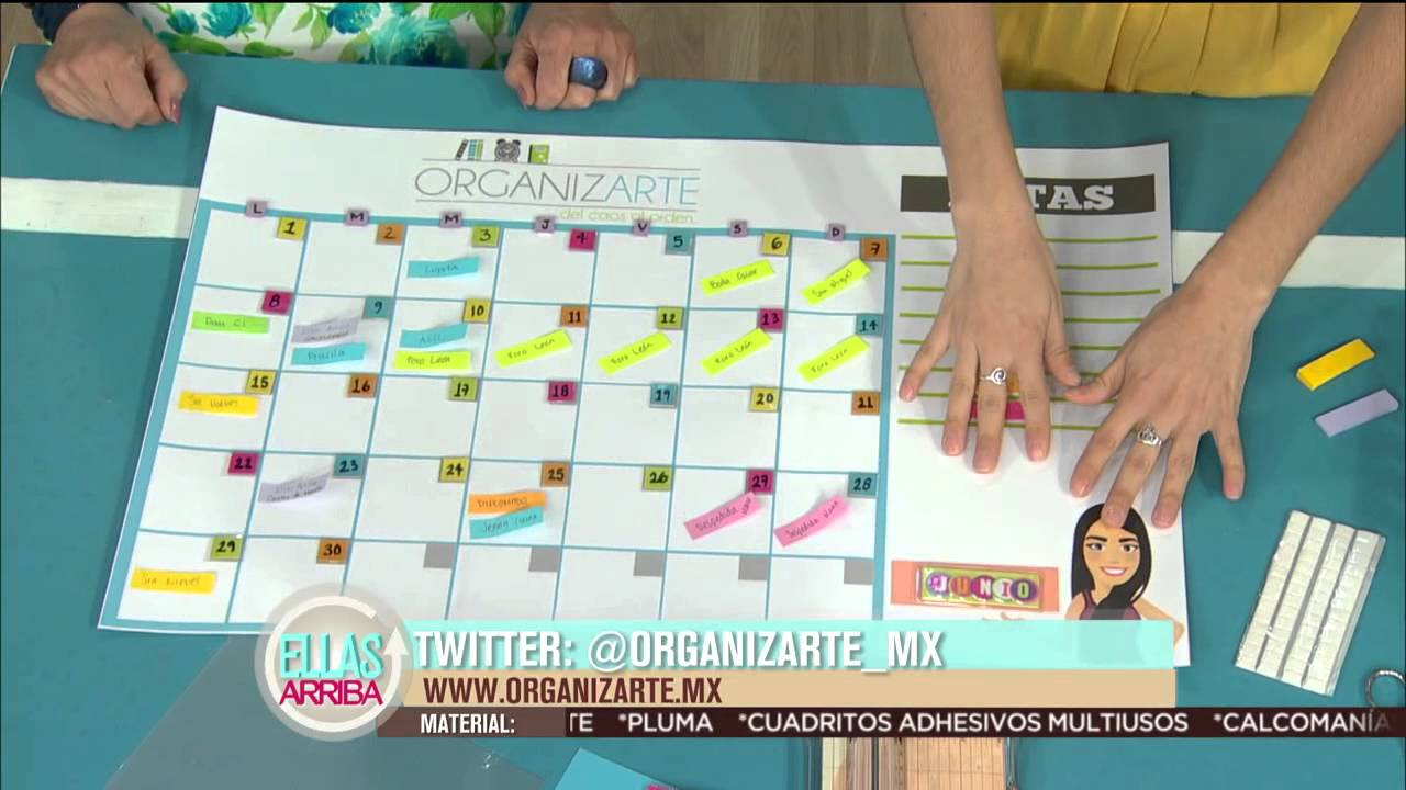 Calendario mensual para organizarte youtube - Ideas para hacer un calendario ...