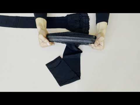 Prezentare ciorapi cu banda adeziva dantelata Conte Elegant Flame 20 den