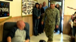 sailor surprises father for 50th birthday