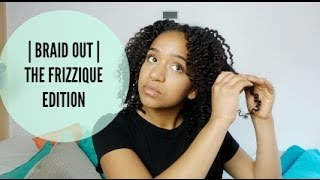 defined braid out on natural hair   frizzique