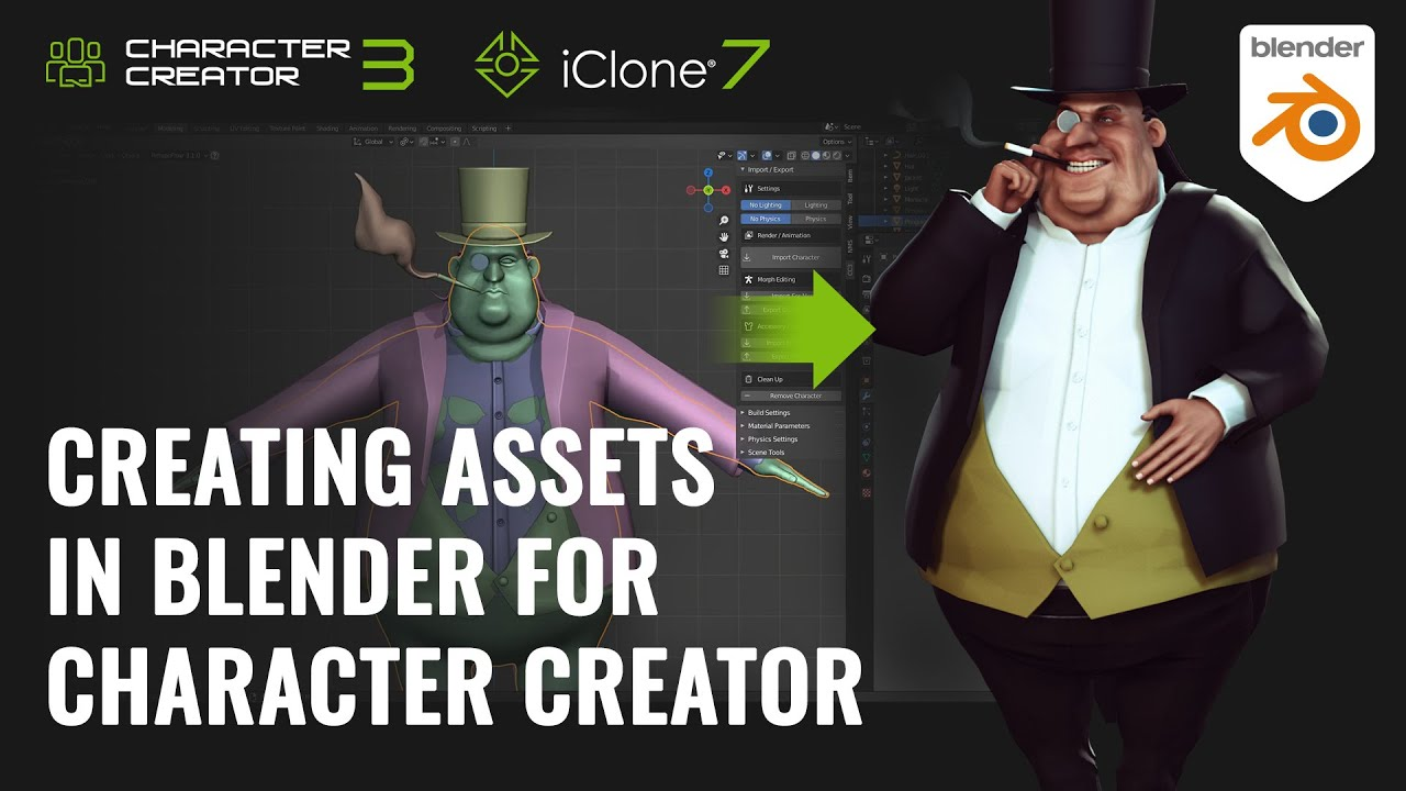 blender animation - creating assets in blender for character creator