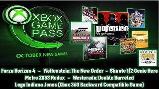 XBOX GETS SERIOUS FOR OCTOBER WITH GAME PASS