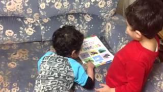 Mayank teaching vehicles to maanya