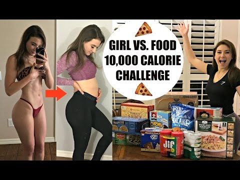 10,000 (10K) CALORIE CHALLENGE | Why Did I Do This | GIRL VS FOOD | EPIC CHEAT DAY