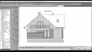 Akademia EliteCAD: Projekt domu z poddaszem użytkowym. Lekcja 12 - Projektowanie elewacji budynku