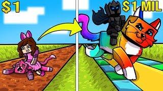 Minecraft: 1 DOLLAR CAT VS 1,000,000 DOLLAR RAINBOW CAT!!! Crafting Mini-Game