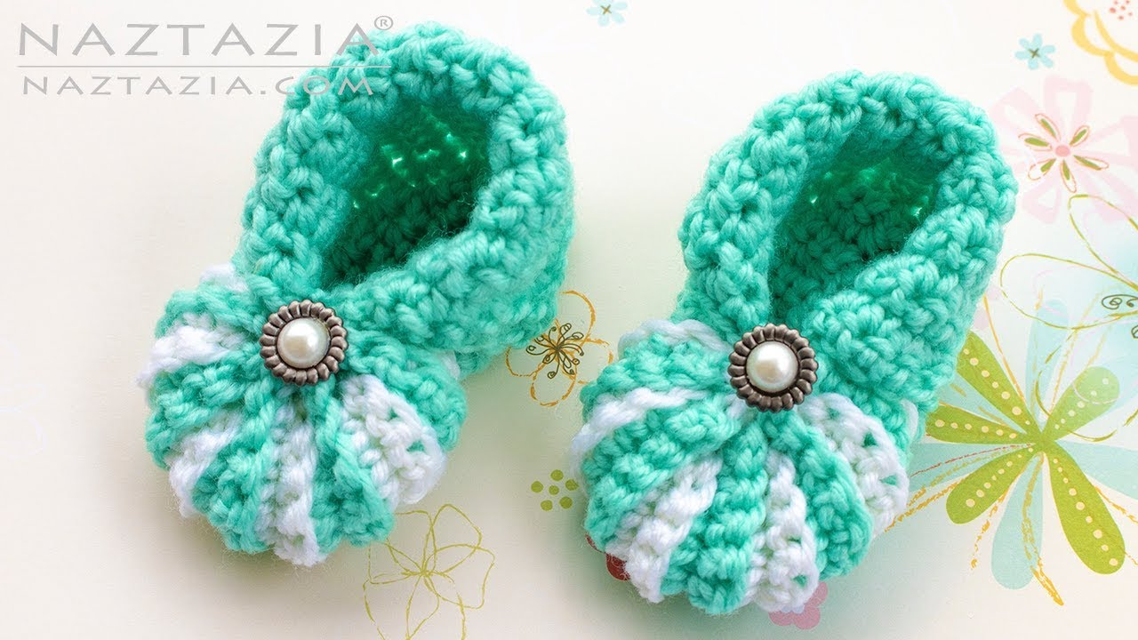 How to Crochet Simple Baby Booties - Easy Shoes for Babies ...