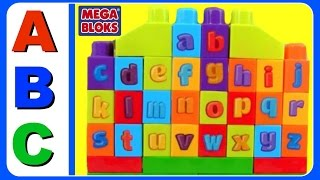 Learn ABC Alphabet With ABC MEGA BLOKS! Fun Educational ABC Alphabet Video For Kids, Kindergarten, T