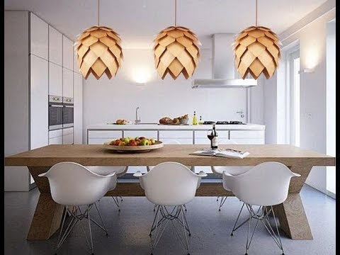 DIY Artichoke Wooden Pendant Lights Fixtures |CoolHomeStyling.com